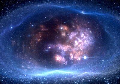Obraz Przestrzeń tła z mgławicy i gwiazdy