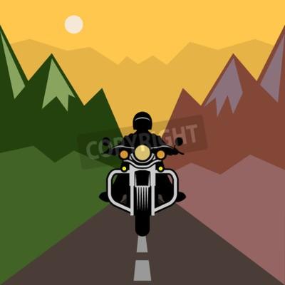 Obraz Przygoda motocykl, ilustracji wektorowych