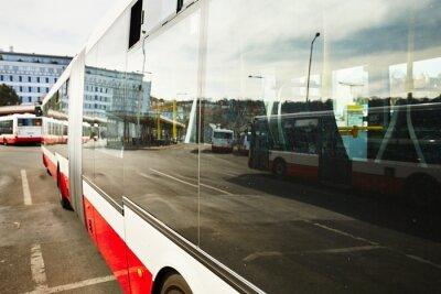 Obraz Przystanek autobusowy
