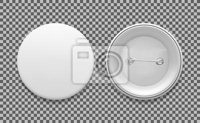 Obraz Puste białe okrągłe pin