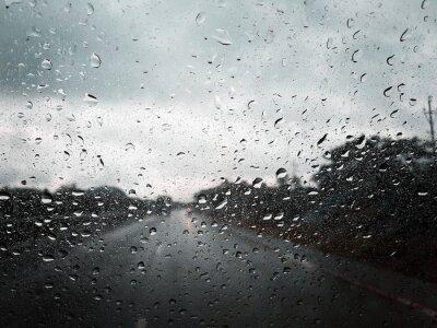 Obraz rain drops on window