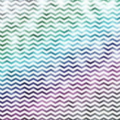 Obraz Rainbow Biały Metallic Faux Folia Chevron Wzór Szewrony tekstury