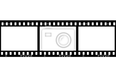 Ramy filmu fotograficznego, samodzielnie na białym tle