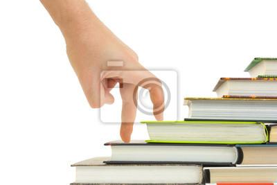 Ręczne i książka schody