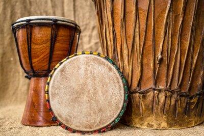 Obraz ręcznie robione bębny djembe