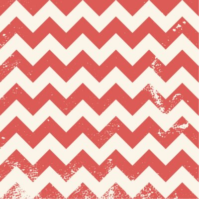 Obraz red chevron pattern with distressed texture