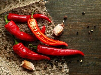 Obraz Red hot chili i czosnku,