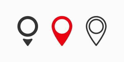 Obraz Red maps pin. Location map icon. Location pin. Vector icon