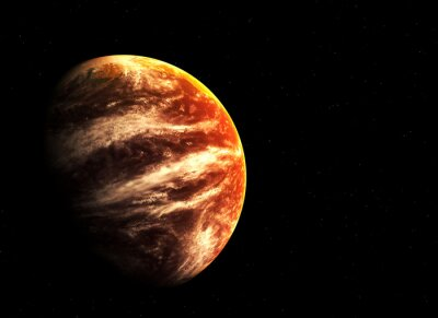 Obraz Red planet i gwiazd