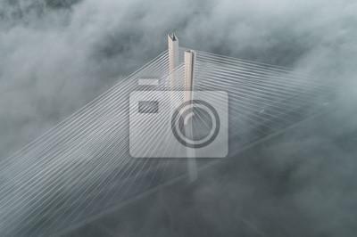 Obraz Redzinski most w chmurach widok z lotu ptaka