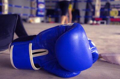 Obraz Rękawica bokserska Niebieski