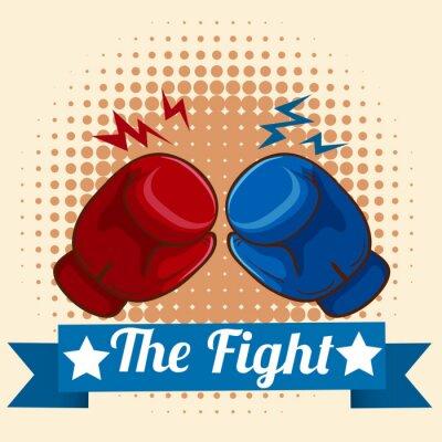 Obraz rękawice bokserskie i figthing Znak