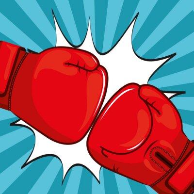 Obraz Rękawice bokserskie wzór