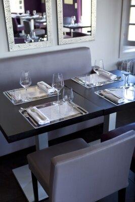 Obraz Restauracja, salle, bistro, stoły, couverts, gastronomie
