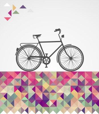 Obraz Retro biodrówki rowerowe elementy geometryczne.