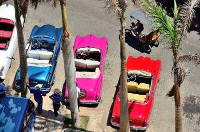 Obraz Retro cars in Havana.