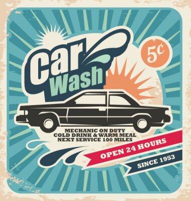Obraz Retro plakat myjnia
