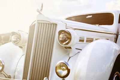 Obraz Retro samochód zaparkowany na trawie