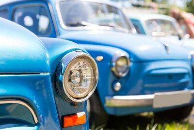Obraz retro samochody
