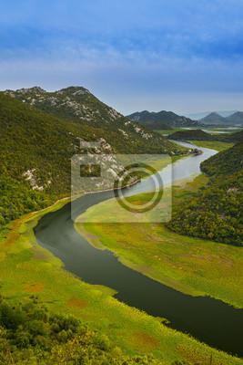 Rijeka Crnojevica River near Skadar Lake - Montenegro