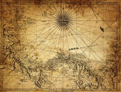 Obraz rocznik mapa Panamy