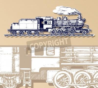 Obraz rocznik pociągu.