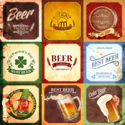 Obraz rocznika banner piwo