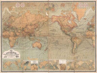 Obraz rocznika mapę