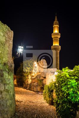 Rodos Stare Miasto w nocy