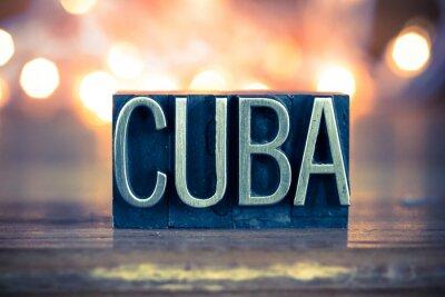 Obraz Rodzaj Kuba metalowych prasą Concept