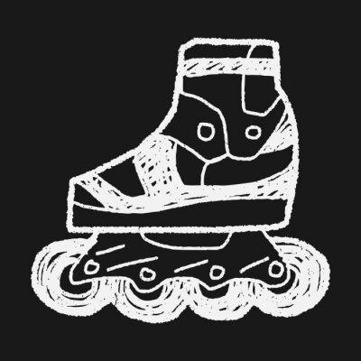 Obraz Roller skate doodle