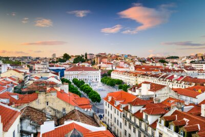 Obraz Rossio w Lizbonie