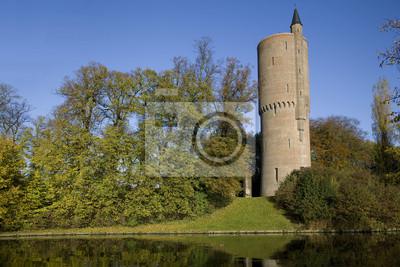 Round water tower in Bruges, Belgium