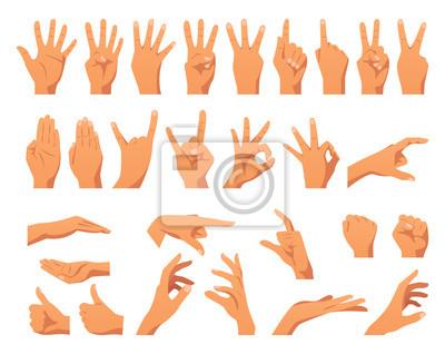Obraz różne gesty rąk