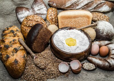 Obraz Różnorodność produktów piekarniczych