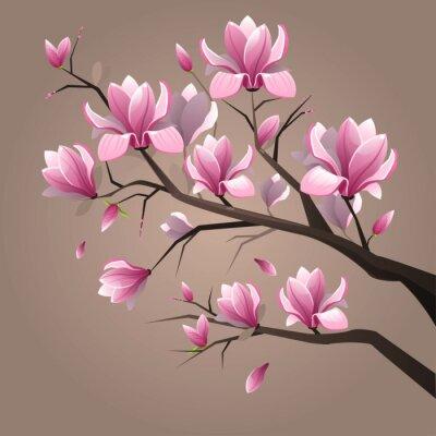 Obraz Różowe kwiaty magnolii