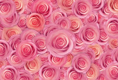Obraz różowe róże kwiat, Happy Valentine dzień