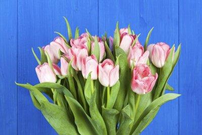 Obraz Różowy bukiet tulipanów zbliżenie