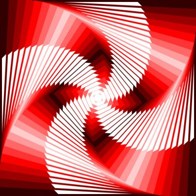 Obraz Ruch wirowy projekt kolorowe geometryczne tyłu iluzja czworokąt