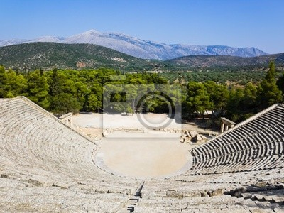 Ruiny Epidauros amfiteatrze