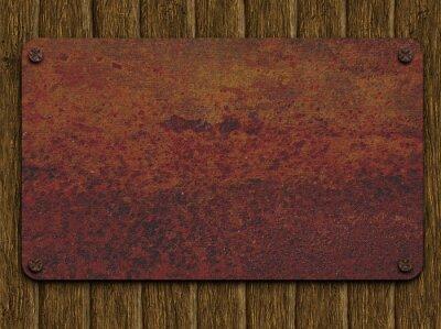 Obraz Rusty płytkę na tablicach