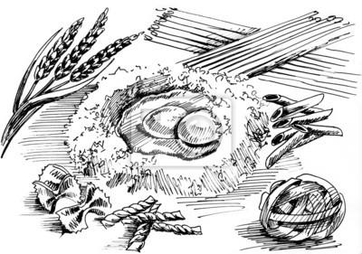 rysunek do gotowania makaronu