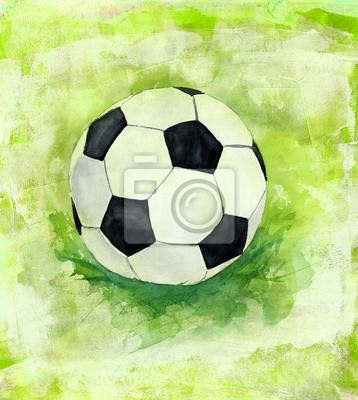Obraz Rysunek (piłkarz) kulki na tle artystycznym