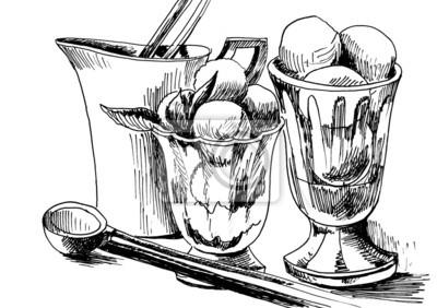 rysunek z lodami