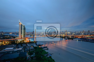 Rzeka Chao Phraya, Bank i Most