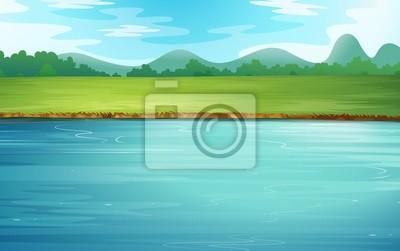 Obraz Rzeka i piękny krajobraz