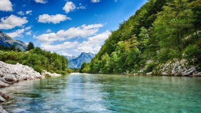 Obraz Rzeka Soca HDR