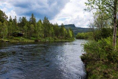 Obraz Rzeka w Norwegii