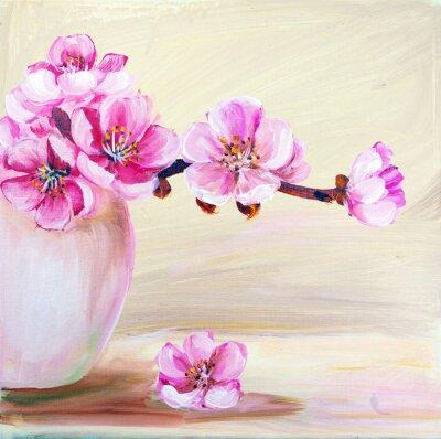 Obraz Sakura kwiaty w wazonie