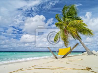 salon-krzesło z palmy na Malediwach